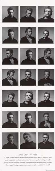James Dean Many Moods Acting Quote 21x62 Door Poster