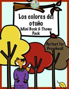 Los Colores del otoño A Preschool Spanish Theme Pack for Colors Preschool Spanish, Elementary Spanish, Elementary Teacher, Elementary Schools, Spanish Lesson Plans, Spanish Lessons, Spanish Teacher, Teaching Spanish, Spanish Colors