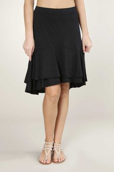 Double Tiered High-Low Skirt