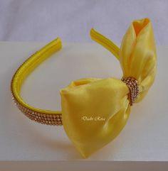Tiara Laço Amarelo