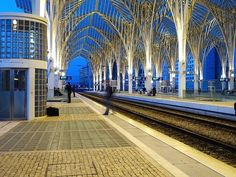 Oriente Train Station, Parque das Nações, Lisboa, Portugal - finished in 1998 for the Expo '98 world's fair.