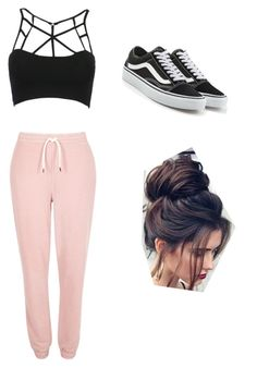 """""""Untitled #6"""" by haileymagana on Polyvore featuring WithChic, River Island and Vans"""