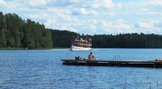 Steamship from Punkaharju to Savonlinna daily in July.