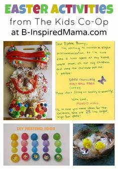 Find over 200 creative kids activities plus lots of fun Easter activities from The Weekly Kids Co-Op at B-InspiredMama.com.