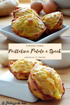 Frittatine di patate e speck - finger food - antipasto - ricetta facile e veloce