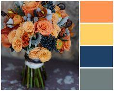 Colourful Orange Winter Wedding Colour Scheme. #ezeevents