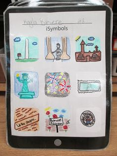 iSymbols assignment for constitution week-create QR codes that link to symbol, tell it's importance and one fun fact