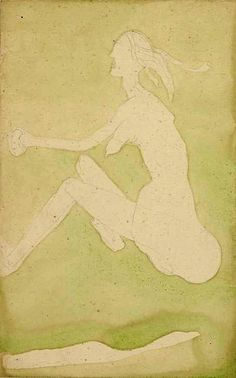 Beuys, Joseph (1921-1986) - 1954 White Woman in the Grass (Tate Gallery, London)