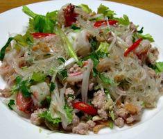 Glass Noodle salad. Yum woon sen