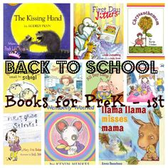 Favorite Back to School Books for Preschool, Kindergarten and First Grade from Mom to 2 Posh Lil Divas