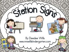 Here's a set of picture signs for organizing centers or work stations across the curriculum.