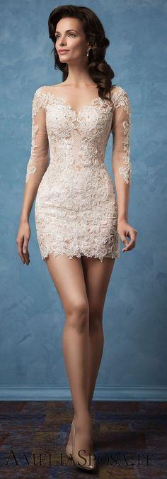 Amelia Sposa 2017 Wedding Dresses - Deer Pearl Flowers / http://www.deerpearlflowers.com/amelia-sposa-2017-wedding-dresses/