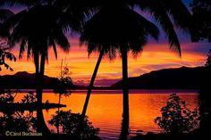 Solomon Islands-Eupi Iisland Islands In The Stream, Solomon Islands, Celestial, Sunset, City, Beach, Travel, Outdoor, Outdoors