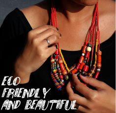 Environmentally Friendly Jewelry Made With Help From The Deaf http://www.eekonomyjewel... #ecofriendly #jewelry #fall #deaf #fashion #women #style #ootd #bright #yellow #orange #shopping #shop #new #spring