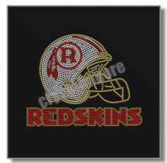 Check out this product on Alibaba.com APP Redskins Rhinestone Hotfix Transfer Football Helmet for t shirt