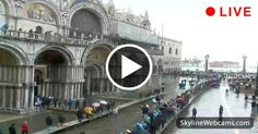 Aqua Alta this morning in Venice! Watch live >