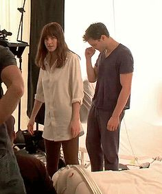 fifty shades of grey movie bts Jamie Dornan and Dakota Johnson