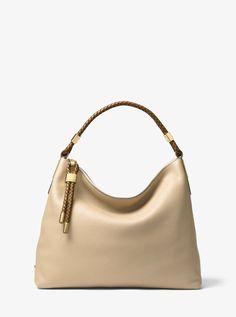 Michael Kors Skorpios Large Leather Shoulder Bag - Dune Leather Shoulder Bag b33b9eb1853ea