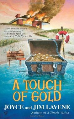 A Touch of Gold (A Missing Pieces Mystery) by Joyce and Jim Lavene, http://www.amazon.com/dp/042524024X/ref=cm_sw_r_pi_dp_tCk7pb14WJTC0
