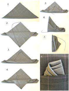 This is how you fold a pocket square like a pro.  #tyyli #taskuliina