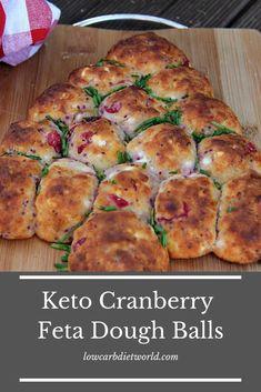 No carb diets 534169205800354307 - Keto Cranberry Feta Dough Balls – Low Carb Diet World Source by Low Carb Bread, Keto Bread, Low Carb Diet, Low Carb Recipes, Diet Recipes, Dough Balls, Feta, Healthy Eating, Meals