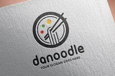 Noodle Logo Template Templates Features :- Available in Ai, EPS 10.- 100 Vector format- CMYK Color- Easy to change text and co by salmon.black