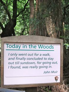 John Muir - Yep...This is exactly my process this week in Yosemite...Beautiful time to breathe and reflect