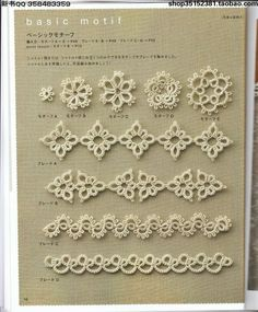 Risultato immagine per japanese tatting patterns free