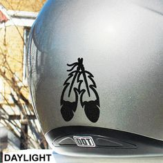 Eagle Feathers Reflective Decal / Motorcycle Helmet Safety Sticker / Reflective Feathers Helmet Decal #472R
