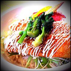 Nanohana & Deep-fried Sqiud on rice (菜の花イカフライ丼)  @Cafe Zenon 東京都武蔵野市吉祥寺