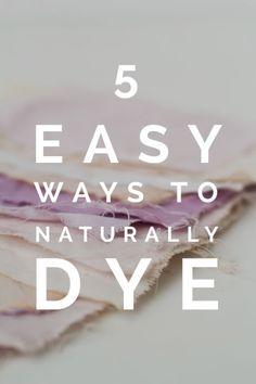 5 Easy Ways to Naturally Dye | eBay