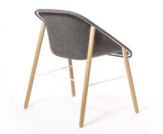 Polyester easy chair KOLA LIGHT WOOD Kola Collection by Inno Interior Oy | design Mikko Laakkonen