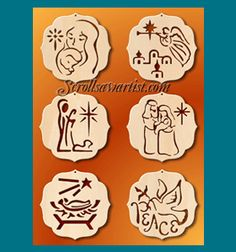Scroll Saw Patterns :: Holidays :: Christmas :: Traditional ornaments :: Nativity ornaments #2 -