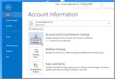 How To Add A New Account in MS Outlook 2013