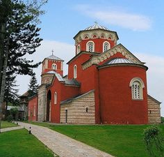 The Zica Monastery, built in the early 13th century, is near Kraljevo at the entrance to the Ibar Gorge in central Serbia. It was the first seat of the Serbian Archbishopric.