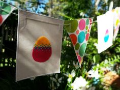 Restringable Easter Bunting by GoblinPin on Etsy