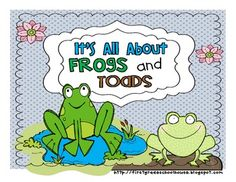 It's All About Frogs and Toads by First Grade Schoolhouse. $ Literacy activities about frogs and toads.