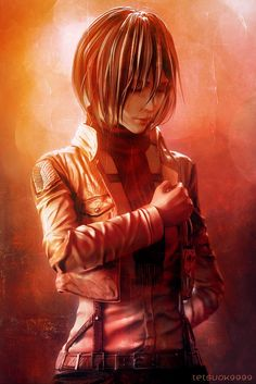 Mikasa from Attack on Titan. To dedicate the heart by Deviant Artist tetsuok9999