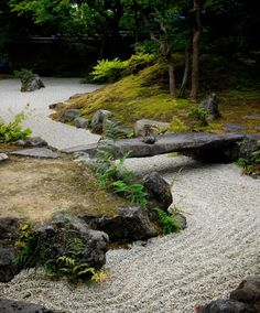 Entsuin Temple's moss and maple garden in Matsushima, Miyagi Prefecture, Japan. Thought to be designed by artist Kobori Enshū in the 17th century. Near perfect in it's restrained tension...at least to my eye.