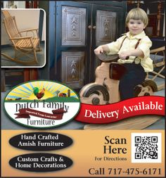 Have you seen the Dutch Family Furniture? All their hand crafted Amish furniture, custom crafts, and home decorations are imported from Lancaster! Make sure you stop by and get your own piece of Lancaster! Family Furniture, Our Town, Amish, Dutch, Lancaster, Crafts, Decorations, Design, Home Decor
