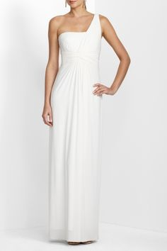BCBG makes the best dresses.  I wore this for my vow renewals in Turks.  Its the perfect wedding dress too.