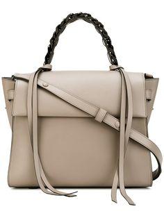 ae03875c28  elenaghisellini  bags  leather  hand bags  tote   Black