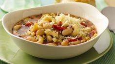 """Italian for """"pasta and beans,"""" pasta e fagioli tosses together in 10 minutes and bakes in a little over a half hour.  Magnifico!"""