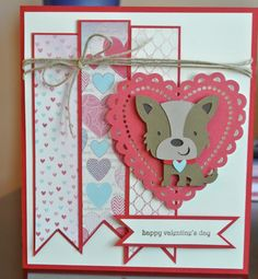 create a critter.  dog on page 31.  use cricut font and basic shapes for heart and ribbon