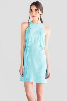 Kenzie Scalloped Bow Dress