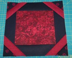 Here are instructions for making this 12 1/2″ x 12 1/2″ block: Which resulted in this quilt top (finished size approx. 56″ x 44″): Each block requires the following pieces: …