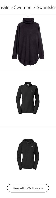"""""""Fashion: Sweaters / Sweatshirts"""" by katiasitems on Polyvore featuring tops, sweaters, jumpers, shirts, black, turtle neck jumper, sweater pullover, polo neck jumper, polo neck sweater and turtleneck pullover"""