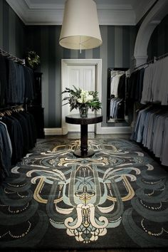 His Master Closet-great rug Oh my god I want to roll around naked on that carpet!