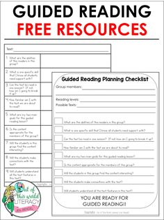 Grab practical ways to plan for any guided reading group with the free checklist and lesson planning template!