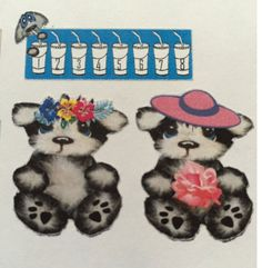Weekly kit planner stickers. One of a kind bear by sisscreations